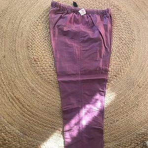 Mimi Maternity Silk Shantung Pants, M, NWT